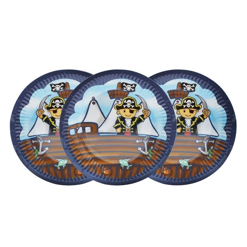 pirate paper plates