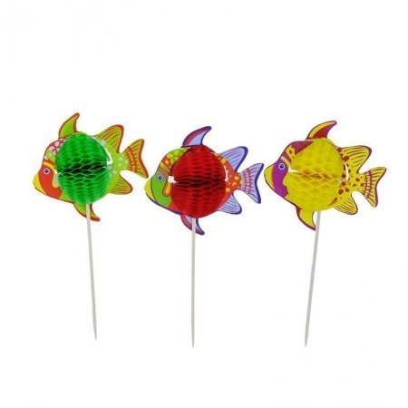fish honeycomb garland picks