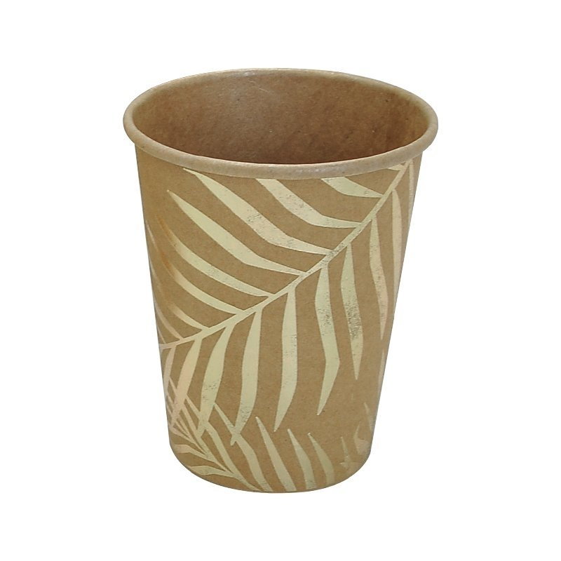 palm leaf kraft paper cups