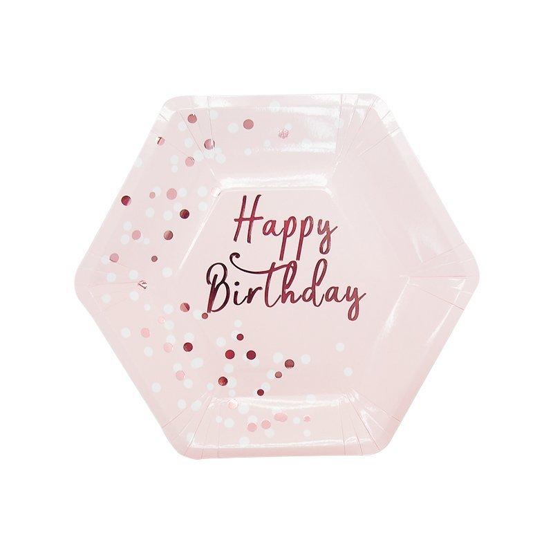 happy birthday paper plates
