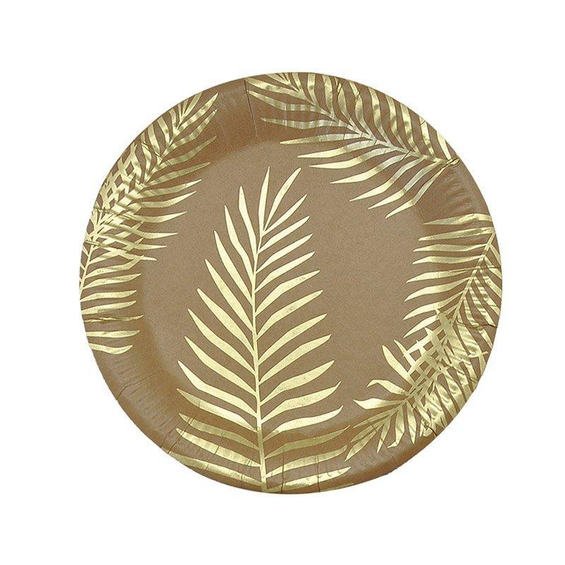 palm leaf kraft paper plates