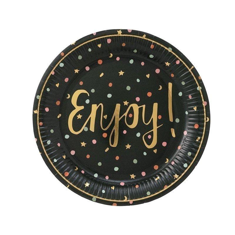 enjoy letter paper plates