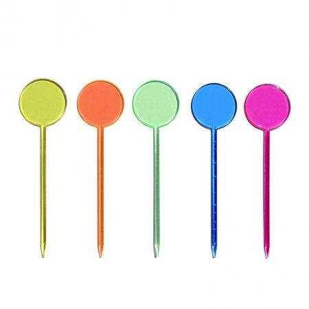 round plastic picks