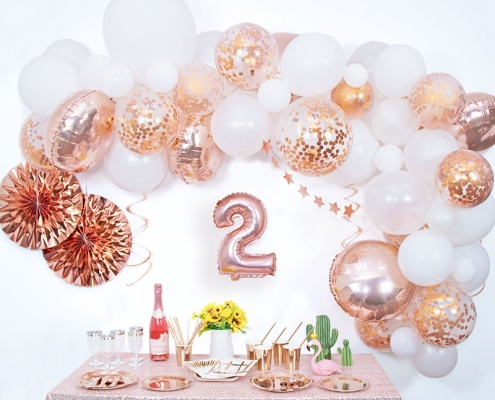 real pictures of 9 sets of balloon arches
