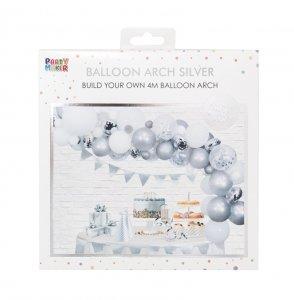 silver white balloon arck kit